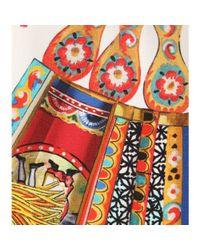 Dolce & Gabbana - Multicolor Printed Silk Top - Lyst