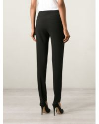 Armani Jeans - Black Slim Fit Trousers - Lyst