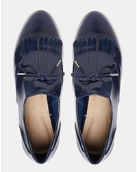 ASOS - Blue Madrid Flat Shoes - Lyst