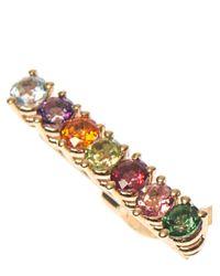 Delfina Delettrez   Multicolor Topaz, Peridot, Pearl & Gold Earring   Lyst