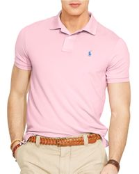 Polo Ralph Lauren - Pink Performance Polo Shirt for Men - Lyst