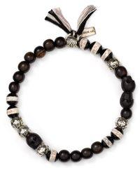 Chan Luu - Black Beaded Tassel Bracelet - Lyst