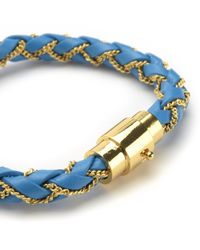 Juicy Couture | Blue Braided Wrap Bracelet | Lyst