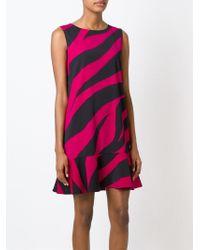 Boutique Moschino - Pink Zebra Print Dress - Lyst