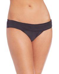 ViX - Solid Black Matelasse Bikini Bottom - Lyst