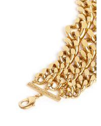 Ela Stone | Metallic 'editha' Graduated Triple Chain Bracelet | Lyst