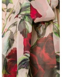 Dolce & Gabbana - Multicolor Rose Print Blouse - Lyst