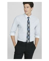 Express | White Slim Microprint Dress Shirt for Men | Lyst