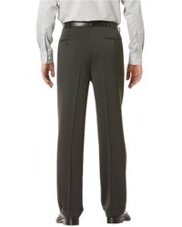 Perry Ellis | Gray Big And Tall Micro Melange Pleated Pants for Men | Lyst