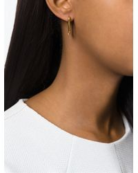 JvdF - Metallic Gold Plated Sterling Silver Angle Earrings - Lyst