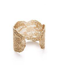 Aurelie Bidermann - Metallic Lace Cuff - Gold - Lyst