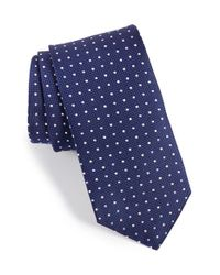 Eton of Sweden | Blue Dot Silk Tie for Men | Lyst