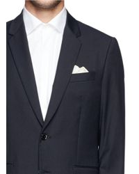 Canali - White Silk Twill Pocket Square for Men - Lyst