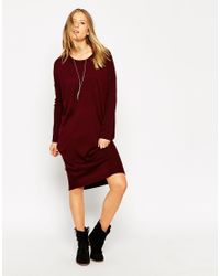 ASOS - Red Oversized Jumper Dress - Lyst