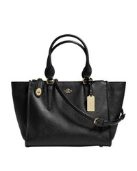 COACH | Black Crosby Carryall | Lyst