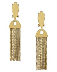 Vince Camuto | Metallic Fringe Drop Clip Earrings | Lyst