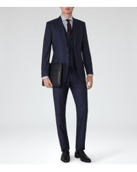 Reiss | Blue Garda Peak Lapel Suit for Men | Lyst