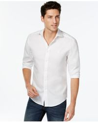 Vince Camuto | White Men's Oxford Shirt for Men | Lyst