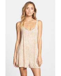 RVCA | Natural 'nite Glow' Sleep Romper | Lyst