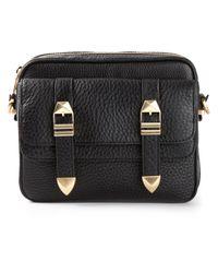 Rebecca Minkoff | Black Buckle Front Shoulder Bag | Lyst