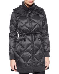 Moncler | Black Verrerie Quilted Hooded Puffer Coat | Lyst