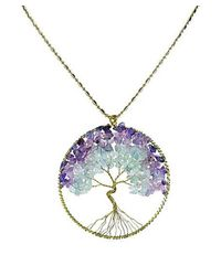 Aeravida | Purple Eternal Tree Of Life Brass Long Necklace | Lyst