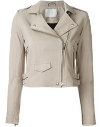 IRO - Natural Leather Biker Jacket - Lyst