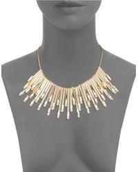 R.j. Graziano - Metallic Teardrop Stick Collar Necklace - Lyst