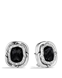 David Yurman | Labyrinth Earrings With Black Onyx And Diamonds | Lyst