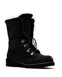 Stuart Weitzman - Black Lined Velour Ankle Boots - Lyst