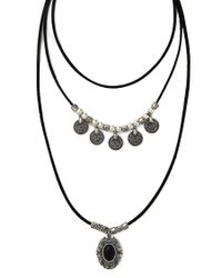 Forever 21 | Black Faux Stone Layered Necklace | Lyst