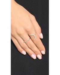 Gabriela Artigas - Metallic Pave Flat Axis Ring - Lyst