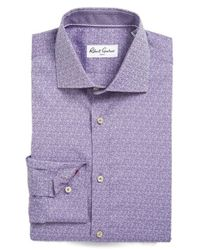Robert Graham - Purple 'elmont' Regular Fit Dress Shirt for Men - Lyst