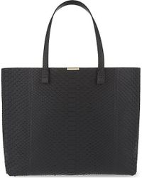 Victoria Beckham | Black Simple Python Shopper - For Women | Lyst