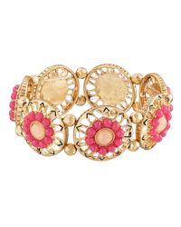 The Sak - Pink Blush Open Stone Stretch Bracelet - Lyst