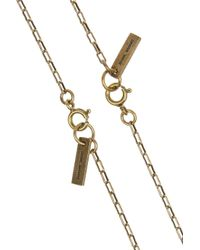 Isabel Marant - Metallic Set Of Two Gold-Tone, Crystal And Horn Necklaces - Lyst
