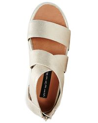 Steven by Steve Madden - Metallic Florence Suede Strappy Open-toe Sandals - Lyst