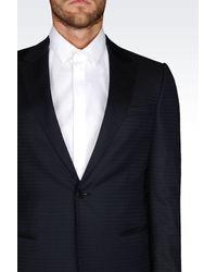 Emporio Armani - Blue Suit In Jacquard for Men - Lyst