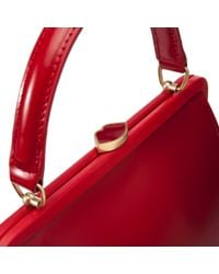 Lulu Guinness | Red Polished Leather Small Eva | Lyst