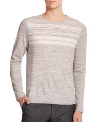 Vince | Gray Striped Sweater for Men | Lyst