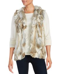 Adrienne Landau | Natural Sleeveless Rabbit Fur Vest | Lyst