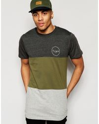 Friend or Faux - Gray T-shirt Cut And Sew for Men - Lyst