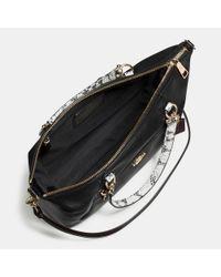 COACH - Black Prairie Satchel In Colorblock Exotic Embossed Leather - Lyst