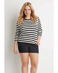 Forever 21 - Black Plus Size Striped Boxy Top - Lyst