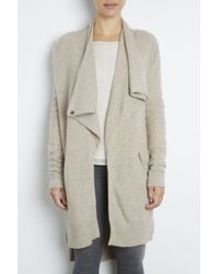 INHABIT | Natural Cashmere Thermal Wrap Cardi | Lyst