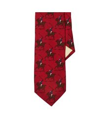 Polo Ralph Lauren - Red Wool Challis Tie for Men - Lyst