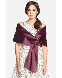 Adrianna Papell - Satin Wrap - Purple - Lyst
