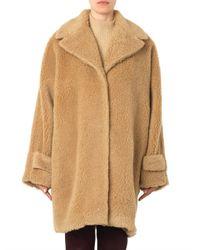 Rochas | Brown Boiled Wool Coat | Lyst