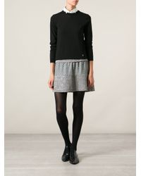 KENZO - Black Glitter Trim Sweater - Lyst