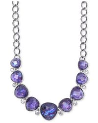 Jones New York - Purple Light Hematite-Tone Tanzanite Frontal Necklace - Lyst